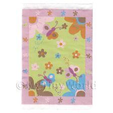 Puppenhaus Klein Pink Kinder Teppich Schmetterlinge Und Blumen