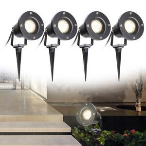 LED Gartenstrahler Spotbeleuchtung Aussen Wasserdicht Außenstrahler 4W GU10