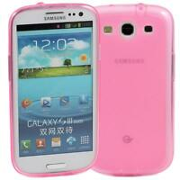 PINK SAMSUNG GALAXY S3 SOFT GEL TPU SILICONE RUBBER CASE i9300: FROSTED BACK M52