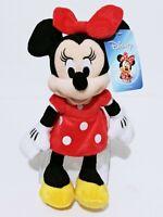 "Disney Minnie Mouse Red Dress 11"" Soft Plush Doll Disney Girls Gift Stuffed Toy"