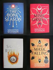 BONE SEASON BOOKS 1-4 Samantha Shannon MATCHING # SIGNED STAMPED NUMBERED LTD ED