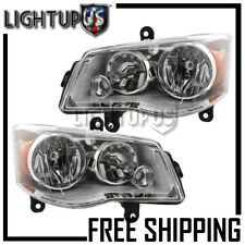 2008-16 CHRYSLER TOWN & COUNTRY DODGE GRAND CARAVAN Left Right Pair Headlights