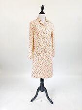 New listing Sweet! Vtg 1960s Floral Print Cotton Skirt Suit Jacket M L