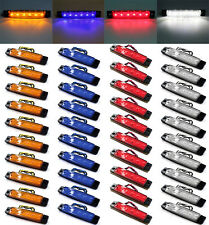 40X Amber/Red/White/Blue Truck Trailer 6 LED Lights Side Marker Indicator Lamp