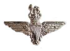 British Army Parachute Regiment Bright Nickel Pin Badge - MOD Approved