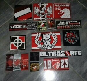 Radnički Kragujevac Red Devils 14 x Serbian Ultras Stickers