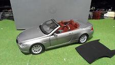 BMW 645 Ci Cabriolet Convertible Gris 1/18  KYOSHO 80430153439 voiture miniature