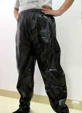 Shiny glossy nylon wet-look jogging sport trousers training pants bottom Hosen
