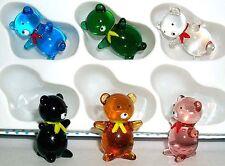 Teddy Bear bow-tie cute cuddly Teddy MINI sized assorted colors 6 pc. box lot