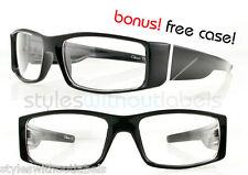 NEW Clear Lens Biker Motorcycle Glasses Sunglasses Black Frame Locs X Sports
