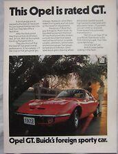 1971 Opel GT Original advert