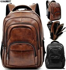 Backpack Leather Men Big Work Port PC Fashion Travel Multipocket Comfy Spacious
