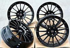 "17"" DTD DG1 GB ALLOY WHEELS GLOSS BLACK MULTI SPOKE 17 INCH ALLOYS FIT 5X98"