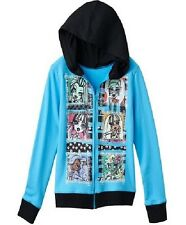 MONSTER High Jacket NeW Girls size 16 Blue Zip-Up Hoodie Frankie