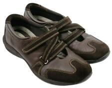 Liz Claiborne Ladies Women Comfort Brown Leather Strap Shoes Size 7M