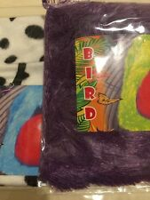 2 Mix Bird Purple Fur MEDIUM Hanging Hut Happy Tent Plush Parrot Toy Bunk Bed
