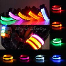 LED FLASHING STATIC LIGHT REFLECTIVE ARMBANDS CYCLING RUNNING JOGGING WALKING