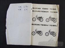 Suzuki TS90 TC90 TS90R TC90R TS90J TC90J 1971-72 Models Genuine Parts Manual