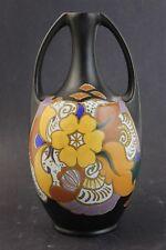 Vintage Signed ESKAF Holland 241 Dutch Pottery Gouda Vase