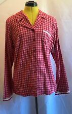 BNWT CALVIN KLEIN Ladies Flannel Transformation Check Pyjama Top .Size M