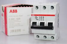 ABB S203-K20 Fusible Automatique K 6kA 20A 3-polig 2CDS253001R0487 Neuf