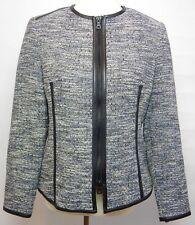 Anne Klein Women's Size 8 Jacket Tweed Black Zip Up Front Career Wear To Work