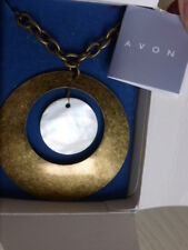 """AVON NECKLACE, PENDANT,COSTUME,18""""(45cm)CHAIN,FASHION,Burnished Brass Plated"""