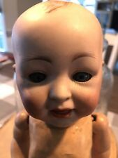 Antique German Bisque Head Doll, 12� Eyes Open And Close. 00004000