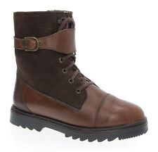 Pajar Shearling Boots 8 Womens Lined Brown Leather Winter Snowmobile Ice Buckle