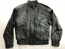 HARLEY DAVIDSON WOMEN'S LEATHER VENTED MOTORCYCLE JACKET SZ 34 WITH LINER