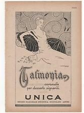 Pubblicità 1926 TALMONIA CIOCCOLATO CARAMELLE advert werbung publicitè reklame