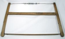 ANTIQUE CROSS CUT 2 MAN WOODEN BUCK BOW SAW OLD BARN PRIMITIVE CARPENTER TOOL