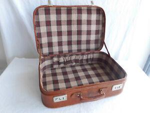 Alter Koffer Lederkoffer Braun Metallbeschläge Reisekoffer Aufbewahrung Alt