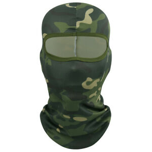 Full Face Mask Outdoor Camo Tactical Balaclava Military Hat Shooting Hunting Cap