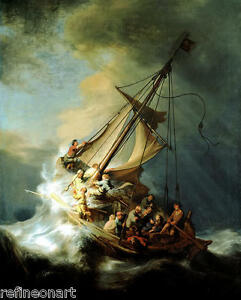 Rembrandt Storm on the Sea of Galilee Giclee Fine Art Canvas Print