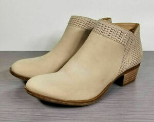 Lucky Brand Brintly Ankle Bootie, Light Beige Leather, Womens Various Sizes