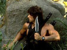 New Custom Hand Made D2 Steel Standard Edit Rambo Knife Black Nylon Cord