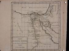 Ancienne Carte de l'Egypte Ancienne pays d'alentour ARABIE SAOUDITE AFRIQUE