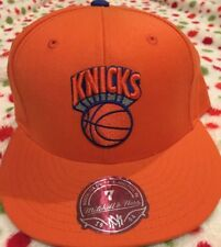 New York Knicks Orange Mitchell And Ness Fitted New NWT Size 7 Hat Cap