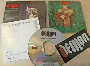 Demon - Night Of The Demon JAPAN CD + Sticker Canyon International ‎– PCCY-00378