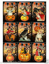 HALLOWEEN CHILDREN PUMPKINS (68-H) SCRAPBOOK CARD EMBELLISHMENTS HANG/GIFT TAGS