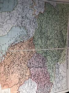 1943 Map Of Southern Germany Hungary Yugoslavia Larger Than A3 Size Original