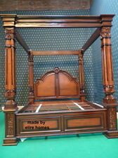 ONLY 1 IN THE WORLD !!! Unique 6' Super King Chatelet® Four Poster Mahogany Bed