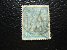norway - stamp yvert and tellier n° 14 obl (A6) stamp norway