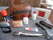 EMIRATES First Class BVLGARI Amenity Kit Bag Set Washbag Trousse Kulturbeutel