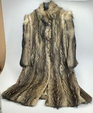 GORGEOUS REAL FOX COAT LUXURY FUR EXTRA LONG BEAUTIFUL Size 12/14 - FREE POSTAGE