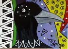 ACEO ORIGINAL Painting~CROW~ABSTRACT UNIQUE~FIGURATIVE~OUTSIDER~SMOODY