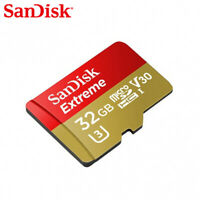 Sandisk 32GB Extreme Micro SD SDHC Card 100MB/s V30 UHS-I U3 for 4K UHD Video