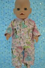 """Play n Wear Dolls Clothes For 17"""" Baby Born PJ'S~FLANNELETTE PANTS~TOP~BOOTIES"""