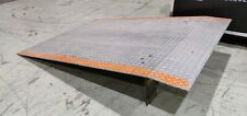 "Quality Loading Equipment Manufacturing 48"" W x 72"" L Dock Plate 1,100lbs Cap"
